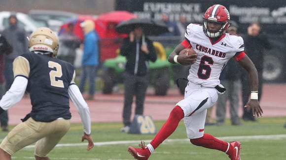 Stepinac defeated Canisius 49-28 to win the Catholic State Championship game in West Seneca, New York Nov. 25, 2017.