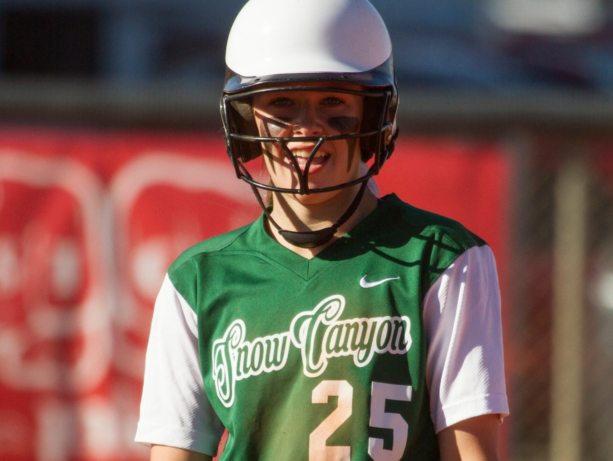 Snow Canyon's Camryn Johnson is all smiles after the Warriors defeated Pine View 4-0 on the road on Friday. With the win, Snow Canyon stays perfect on the season.