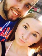 Billy Dawson Jr., 20, and his girlfriend Carley Toomey,