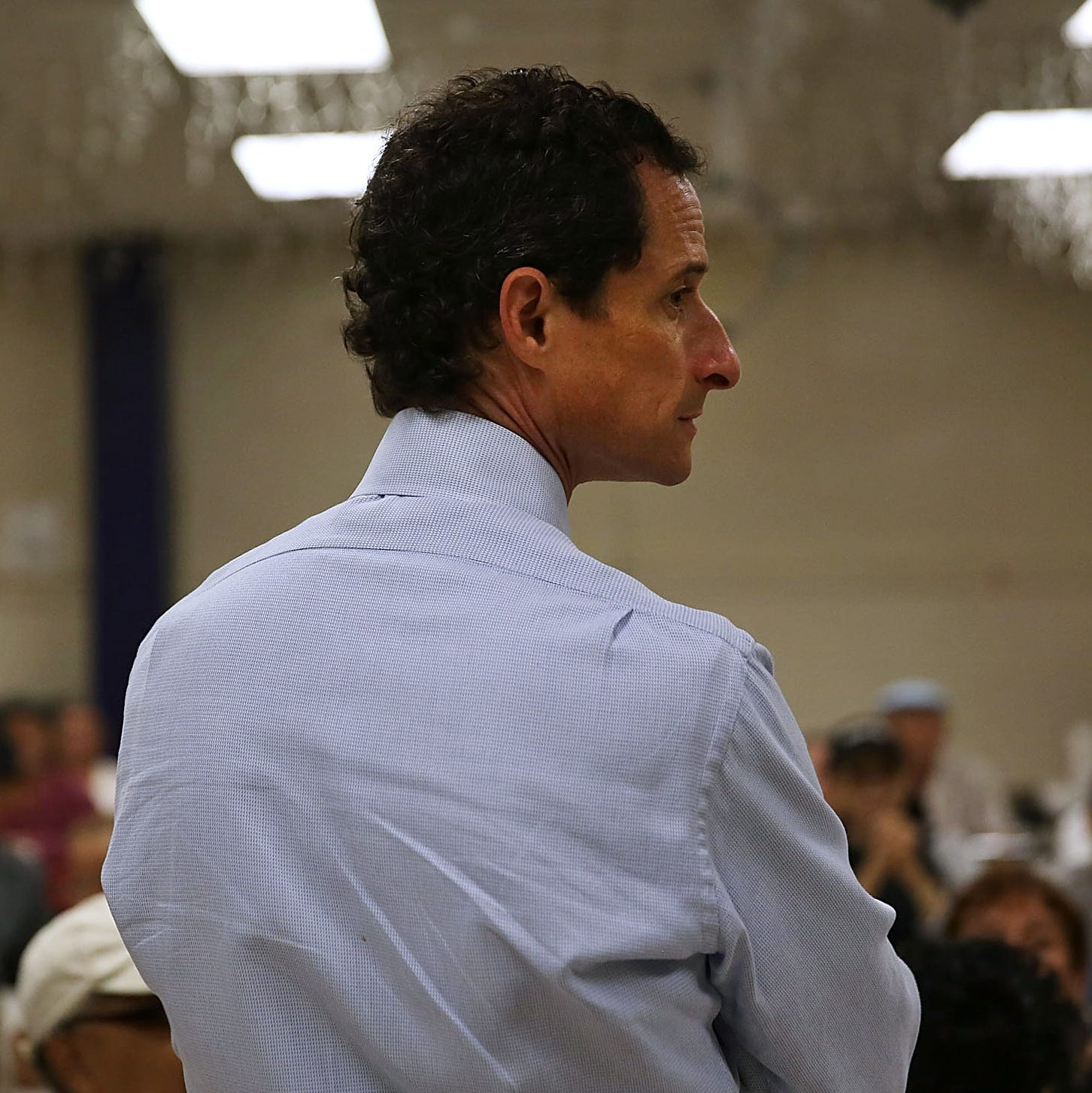 Anthony Weiner, a candidate for New York City mayor, visits a senior center in Manhattan on Tuesday.