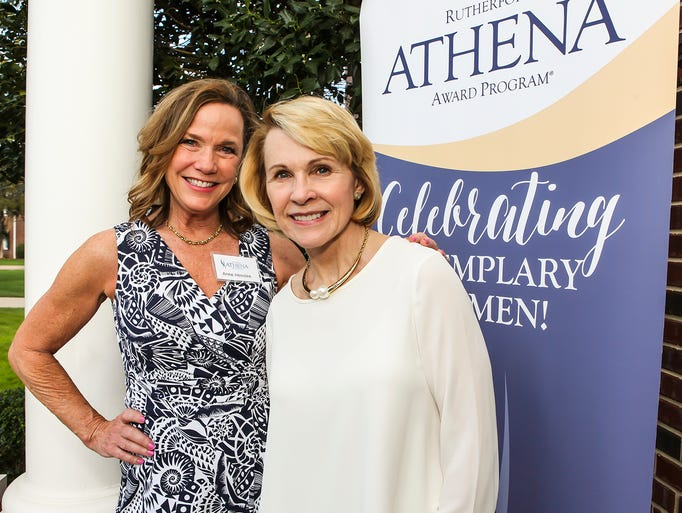 Anne Henslee and Dr. Rhea Seddon at the 2017 Rutherford