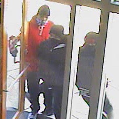 Surveillance photo of the attempted armed robbery at