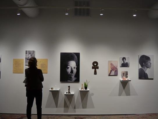 """The """"Mari Evans: Carl Pope"""" exhibit, a project by artist"""