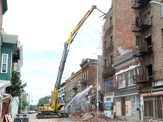 Demolition of 19 Academy Street in the City of Poughkeepsie on Wednesday, June 20, 2018.