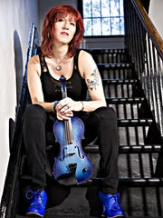 Deni Bonet performs Wednesday at the Dryden VFW for the Town of Dryden's summer concert series.