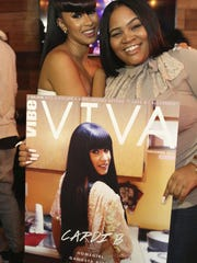 Patientce Foster (right) and Cardi B.