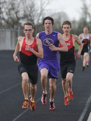 Wyatt Gardner leads the pack on the way to a win. Bloom-Carroll