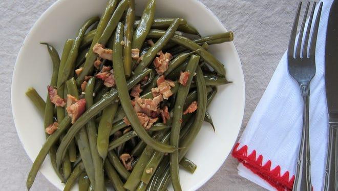 Bacon-Braised Green Beans retain just enough crunch.