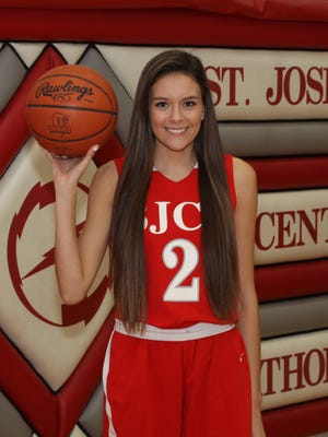 St. Joseph Central Catholic senior Adrienne Wehring reached 1,000 career points Friday.