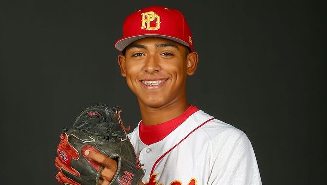 Palm Desert High School pitcher Jeremiah Estrada.