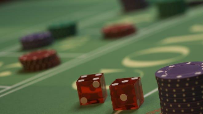 Craps table at casino.