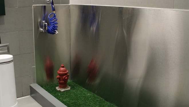 JFK Airport's Terminal 4 has a new post-security pet relief area - the latest trend in airport amenities.