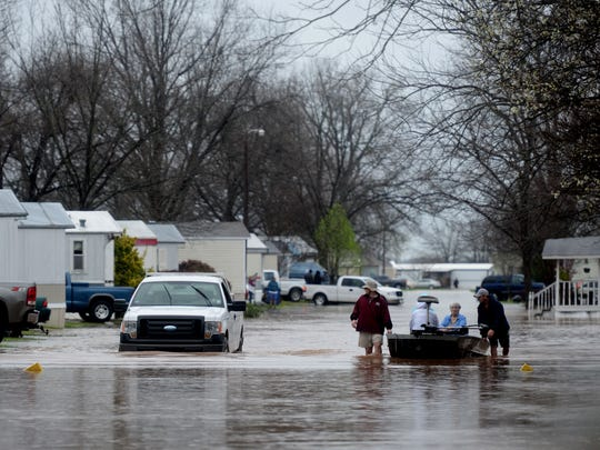 Pecan Valley Mobile Home community was flooded because