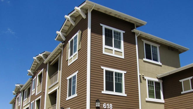 Newly completed Lincoln Way Senior Apartments for low-income seniors.