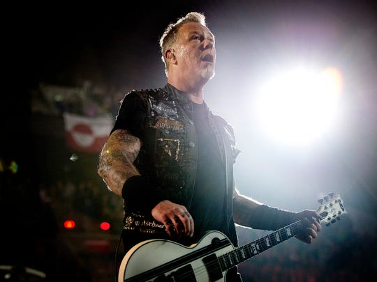 This picture taken on February 3, 2017 shows Metallica's