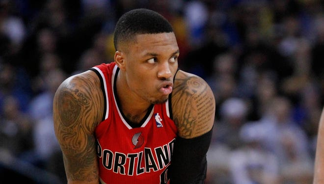 Portland Trail Blazers guard Damian Lillard (0) is going to be all over the place during NBA All Star weekend in New Orleans.