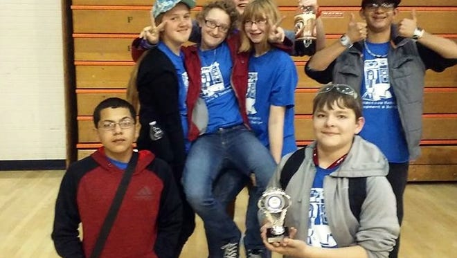Middle School robot team R2D2, Team #8955, have qualified to go to a regional competition in Lubbock, Texas on Feb. 20.