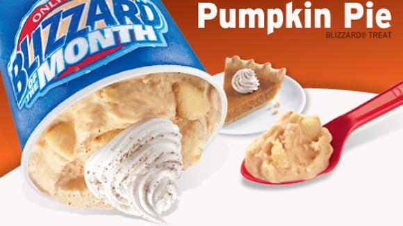 Pumpkin Pie Blizzard from Dairy Queen