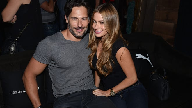 Joe Manganiello and Sofia Vergara attend a private event at Hyde Lounge during the Justin Timberlake concert hosted by PUMA celebrating the brand's new Forever Faster campaign on Tuesday, Aug. 12, 2014, in Los Angeles.