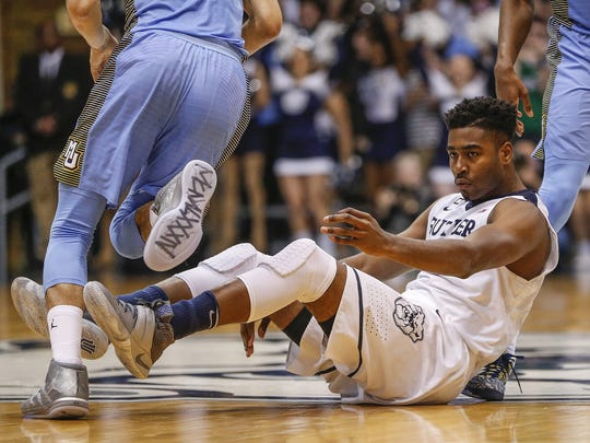 A second-team All-Big East selection a year ago, Kelan Martin was benched during Butler's game against Marquette.
