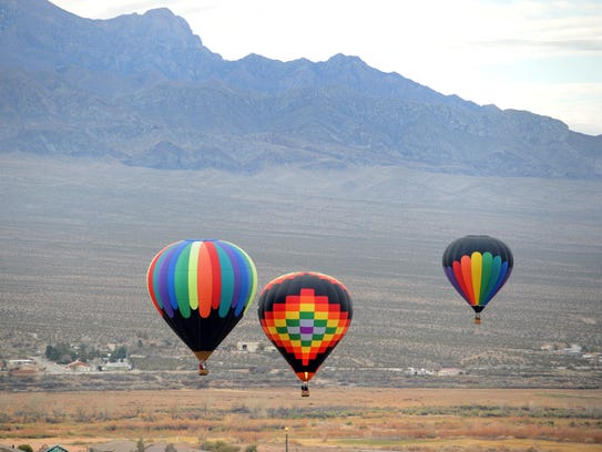 Balloons fly more  Mesquite during the 2014 Mesquite