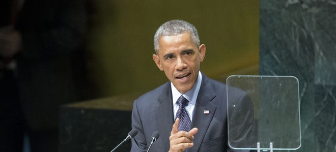 President Obama addresses the United Nations Climate Summit on Sept. 23.