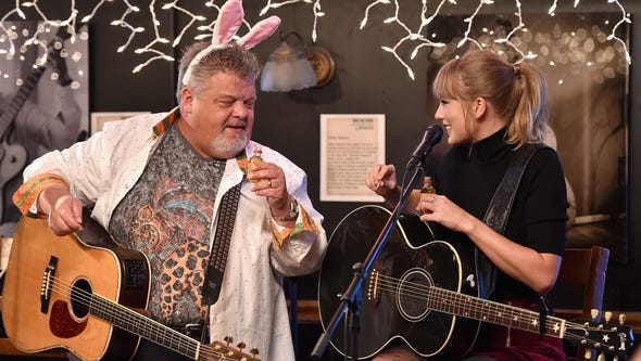 Craig Wiseman and Taylor Swift chat over shots of Fireball