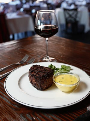 12 ounce filet mignon at BV's Grill at The Time Hotel in Nyack on Wednesday, March 22, 2017.