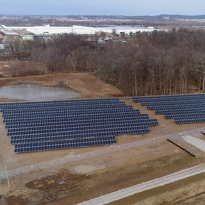 A solar field of 1,962 panels has been installed along