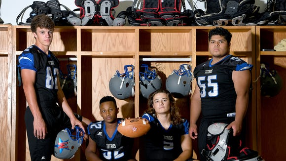 McDowell returning seniors starters from left: Seth Phillips, DeAndre Collins, Ben Ballew, and Ricky Amador Aguirre.