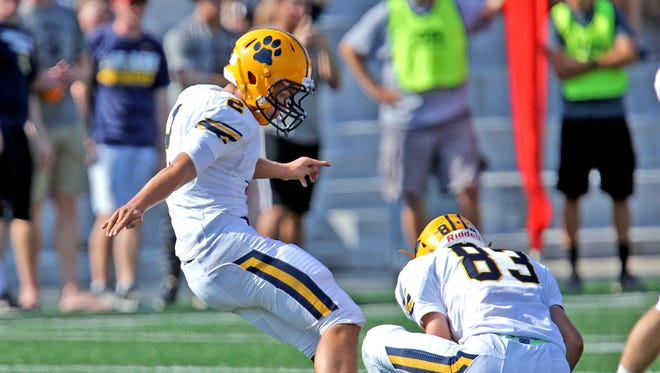 Kent State kicker Matthew Trickett, pictured during his playing days at Cleveland St. Ignatius High School, announced on Monday that he has entered his name in the transfer portal.