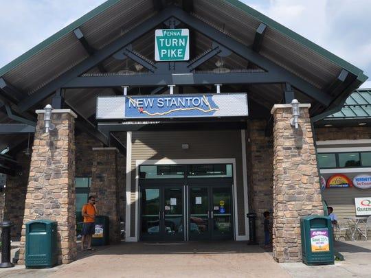 New Stanton is the last plaza in Pennsylvania.