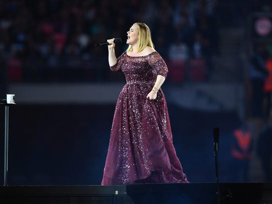 Adele performs at Wembley Stadium on June 28  in London,