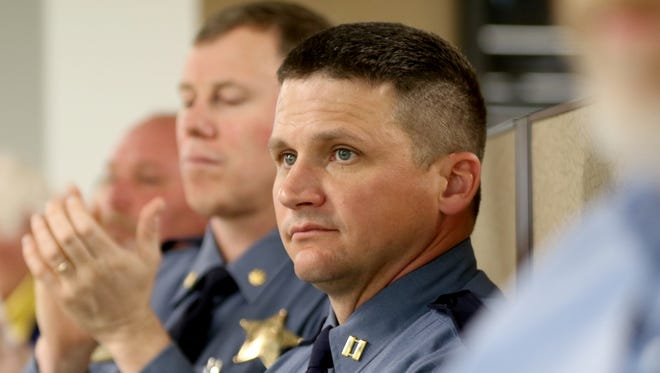 Oregon State Police spokesman Capt. Bill Fugate has been placed on leave because he is the subject of a criminal investigation.