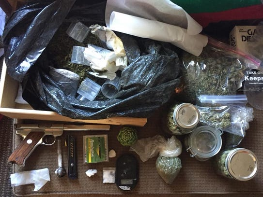 These items were seized from a honey oil lab operated