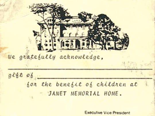 Janet Memorial Card.