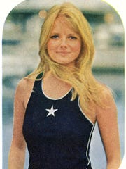 Cheryl Tiegs was pictured in two modest swimsuits in