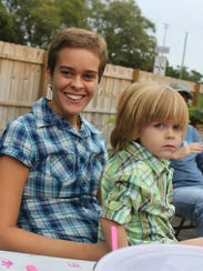 Photo of Lacey Spears and son Garnett Spears. Lacey