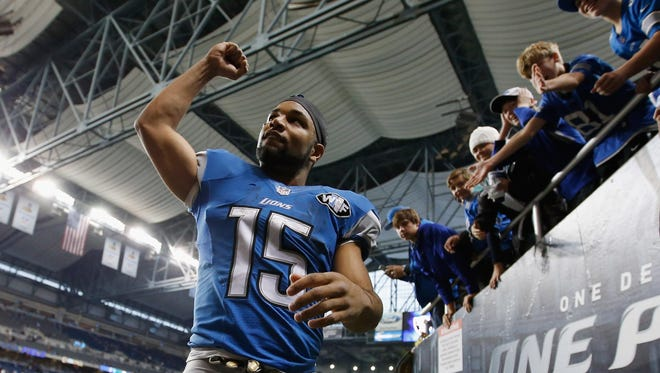 Golden Tate of the Detroit Lions.