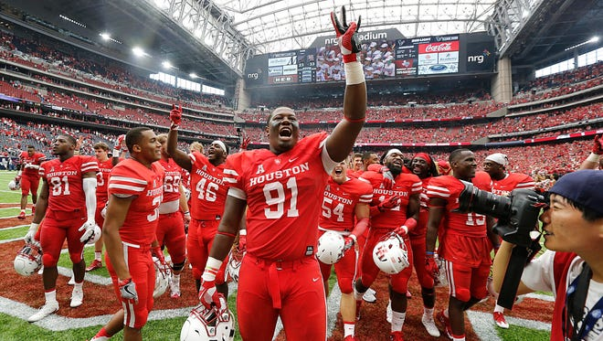 Houston and defensive end Nick Thurman (91) reinforced the notion they are a force to be reckoned with in their Week 1 win vs. Oklahoma.