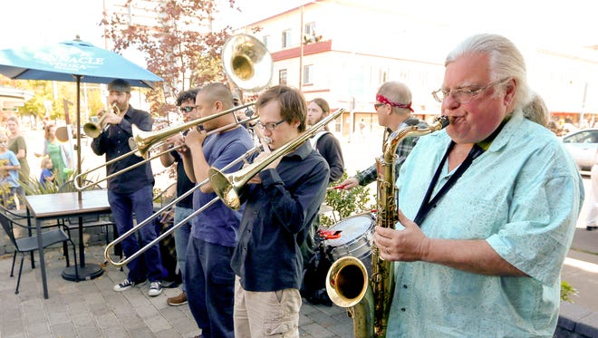 The Silverton Sidewalk Shindig kicks off with a performance by the  Transcendental Brass Band noon Oct. 1 in front of the Palace Theater.