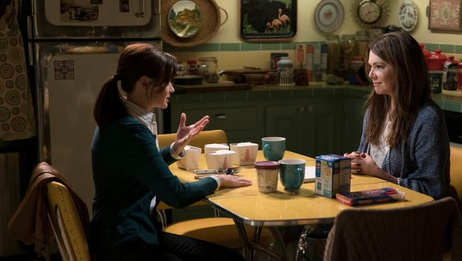 "Alexis Bledel and Lauren Graham in a scene from the television series ""Gilmore Girls a Year in the Life"" on Netflix."
