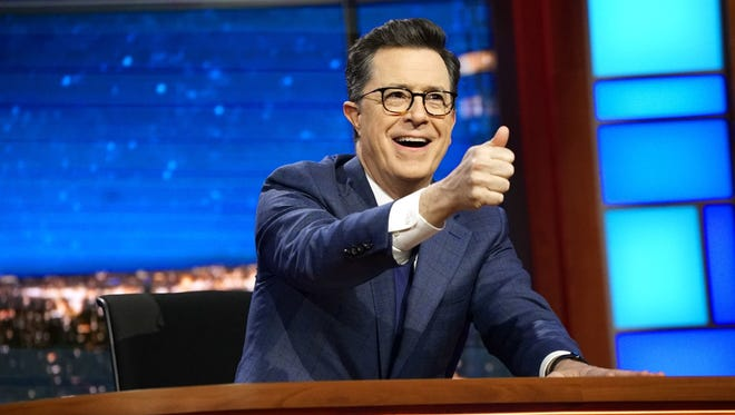 """On """"Late Night With Stephen Colbert,"""" a bit, titled """"Stephen Colbert Grabs Capitol Hill By The Memo"""" aimed to poke fun at the February release of the Nunes memo and included a cameo from Sen. Jeff Flake."""