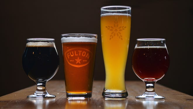 A variety of Fulton Brewing Co.'s taproom selections.