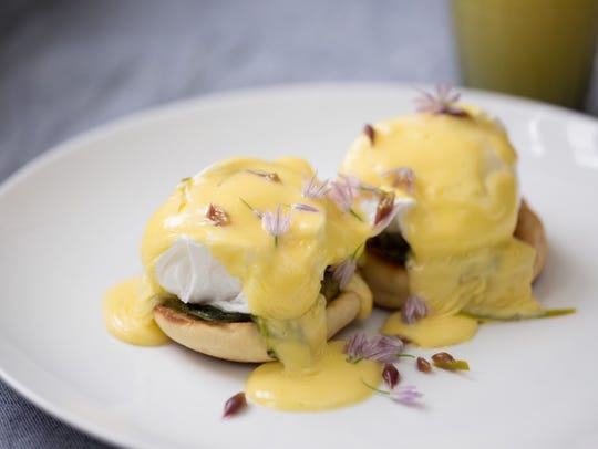 Eggs Benedict made by Chef Kyle Holsinger-Johnson.