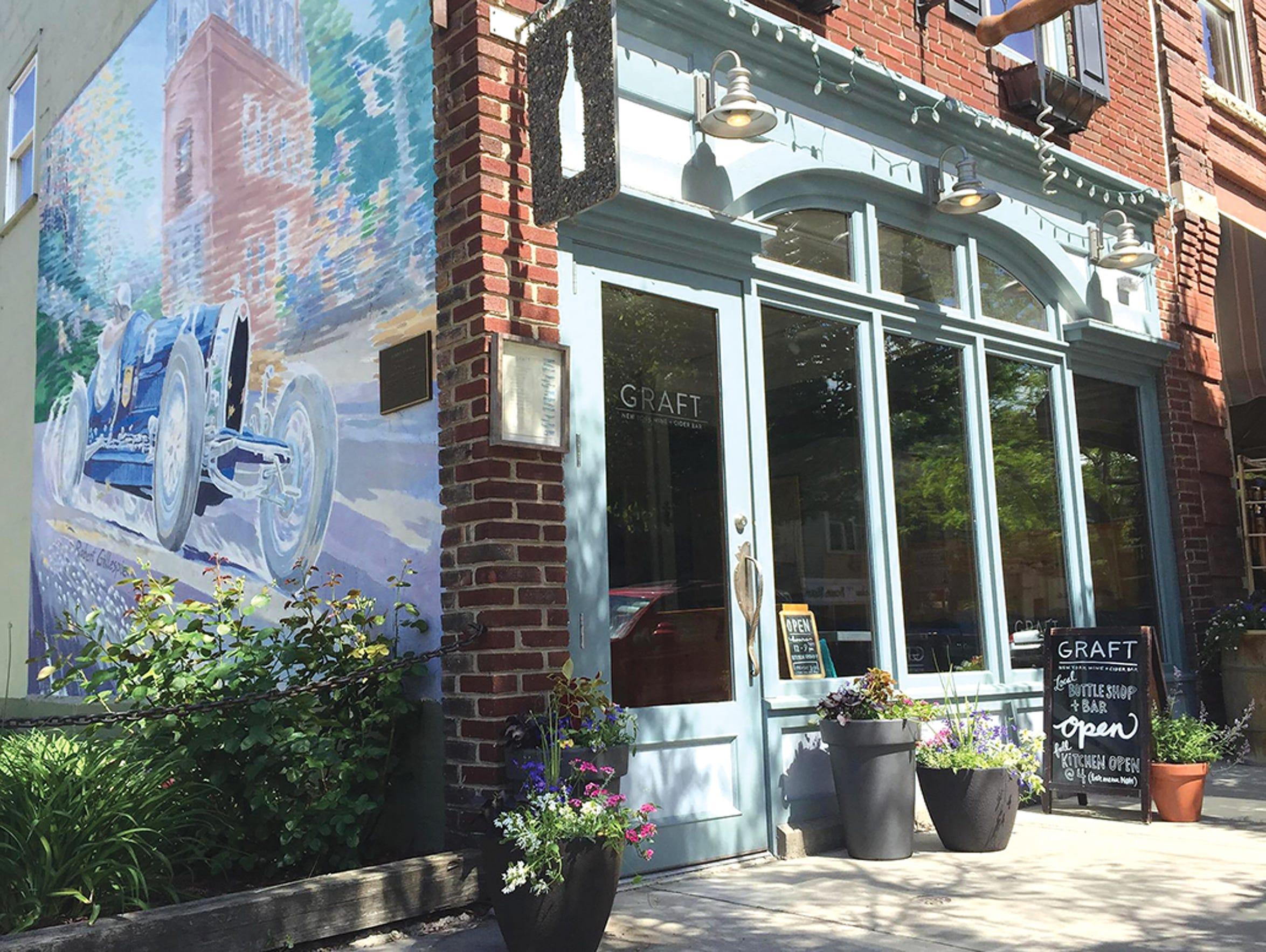 GRAFT wine + cider bar in Watkins Glen.