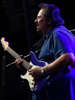 Blues guitarist Coco Montoya on stage as the final act of the 2017 W.C. Handy Blues and Barbecue Festival Saturday, June 17, 2017.