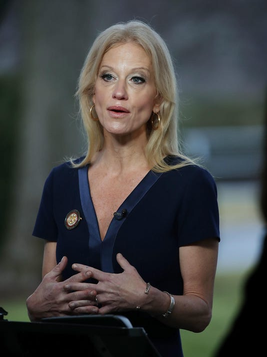 Kellyanne Conway Speaks To Morning Shows From Front Lawn Of White House