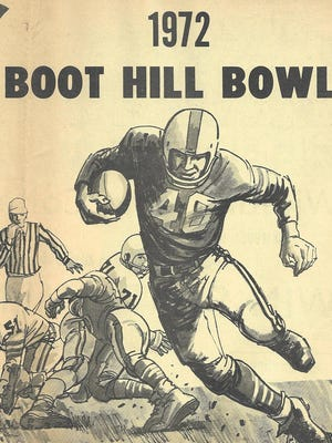 The Boot Hill Bowl held from 1970 through 1980, with a part of an ad from 1972. SUBMITTED PHOTO