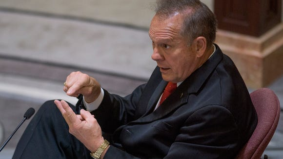 Embattled Alabama Chief Justice Roy Moore testifies